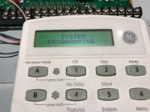 Home Security Alarm System Keypad Programming