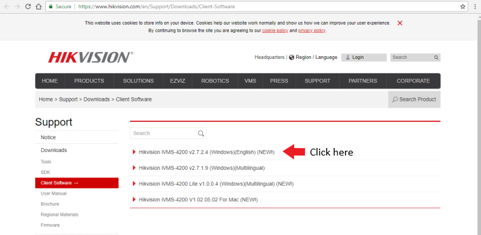 ow to download Hikvision iVMS-4200 Windows client
