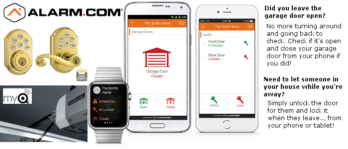 Alarm.com and MONI security systems