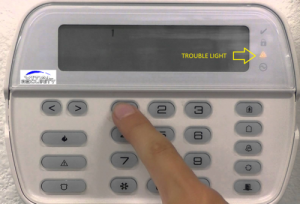 DSC Alarm System Keypad Trouble Light ON