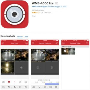 Hikvision iVMS-4500 lite Apple iOS app in App Store