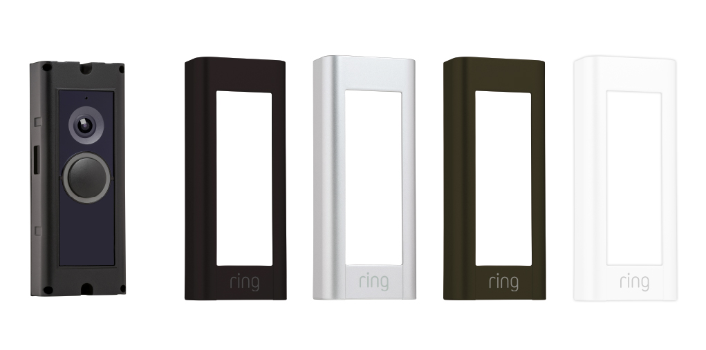 ring Video Doorbell Pro with multiple face plates